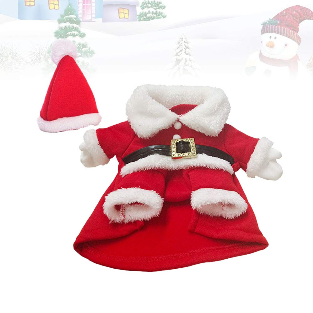 STOBOK Pet Dog Cat Christmas Costume Dog Winter Clothes Vest Xmas Party Costume Size S Red White