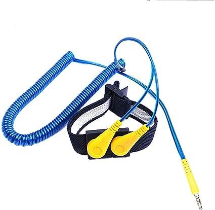 Bracelet antistatique pour poignet Bleu