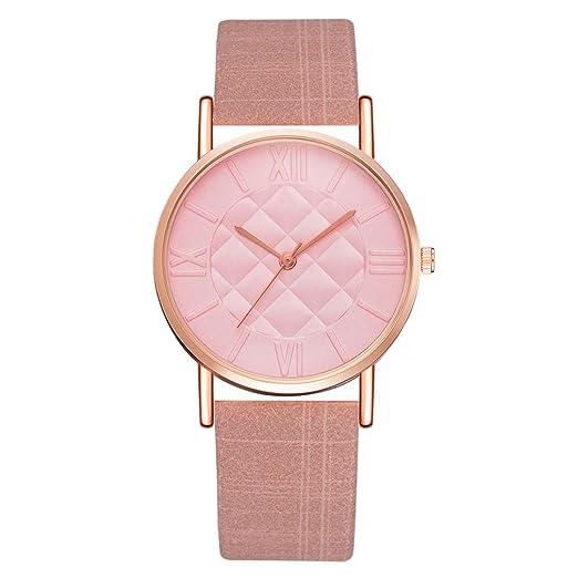 Cebbay Liquidación Hombres Mujeres Ocio Moda Noble Lujo Ocio Set Auger Cuero Acero Inoxidable Reloj de