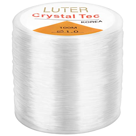 LUTER 0.8mm Elastic Bracelet String Cord Clear Stretchy Beading Thread for Jewelry Making Necklace Bracelet 328ft