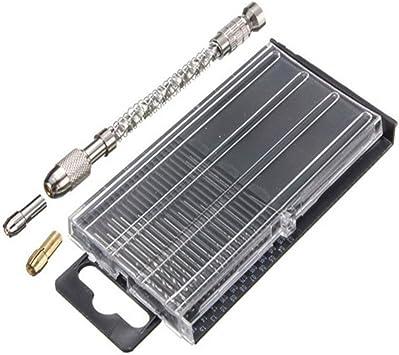20pcs//set  Mini Tiny Micro Hand HSS Twist Drill Bits 0.3-1.6mm Bit Spiral Vise