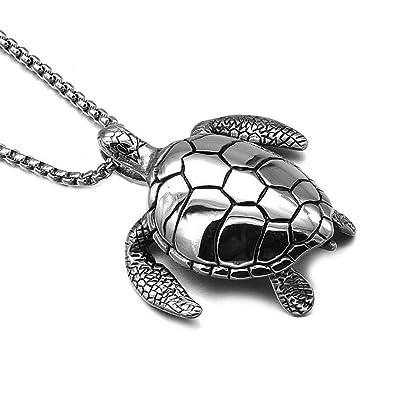 Mengpa stainless steel sea turtle pendant necklace tortoise jewelry mengpa stainless steel sea turtle pendant necklace tortoise jewelry aloadofball Images