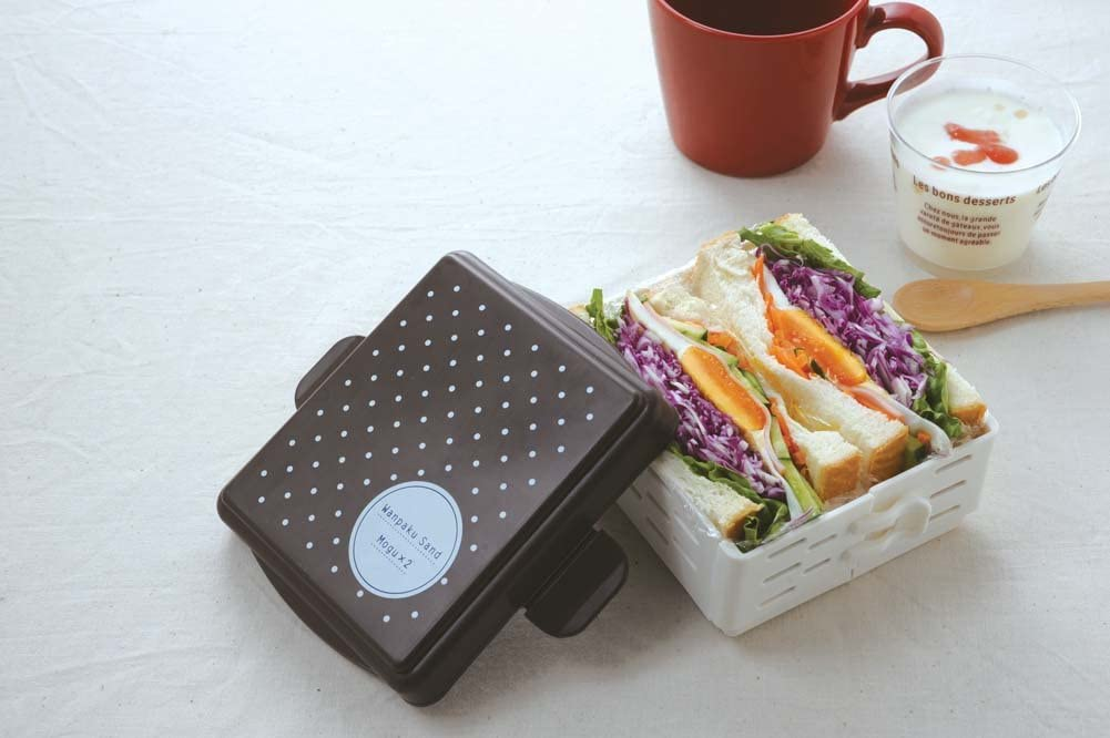 アーネスト サンドイッチメーカー ケースで作れる映えるサンドイッチ (わんぱくサンド Mogu×2) 大手飲食店愛用ブランド ブラウンA-76721