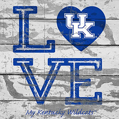 (Prints Charming College Love My Team Logo Square Kentucky Wildcats Unframed Poster 13x13 Inches)