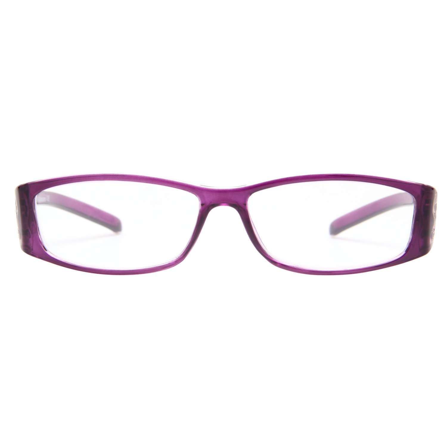 96e0ac253e72 Amazon.com  LianSan 3 Pack Stylish Ladies Readers Cute Reading Glasses for Women  Pink Purple Red +3.75 Magnification  Health   Personal Care