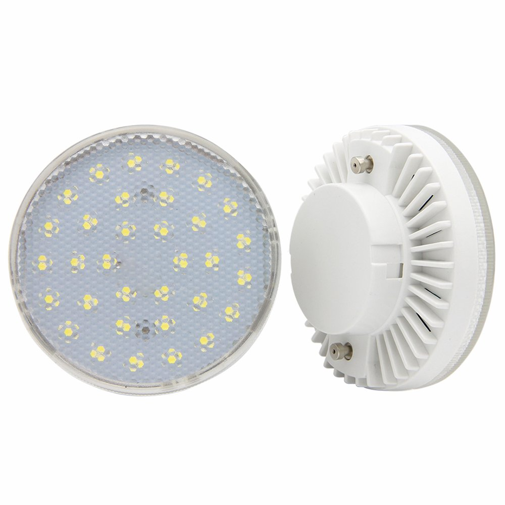 GX53 LED Bulbs 7W for Ceiling Lamp,Showcase,Cabinet,Shop Showroom,Warm White 3000K (Pack of 2)