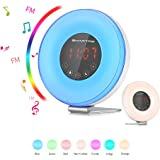 SMARTRO Sunrise Wake up Light Digital Alarm Clock Bedrooms, Bedside and Kids, 2018 Edition, FM Radio 7 Colors, 6 Natural Sounds, 10 Brightness Levels and Touch Control