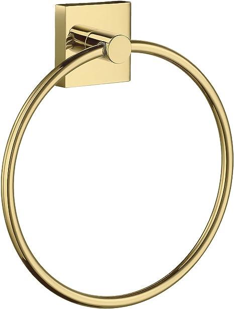 SMEDBO Home Polished Brass Ring Door Towel Wand-handtuch-Halter RV