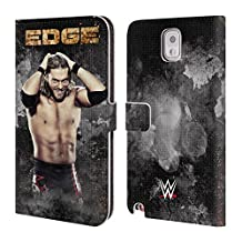 Official WWE LED Image Edge Leather Book Wallet Case Cover For Samsung Galaxy Note 4