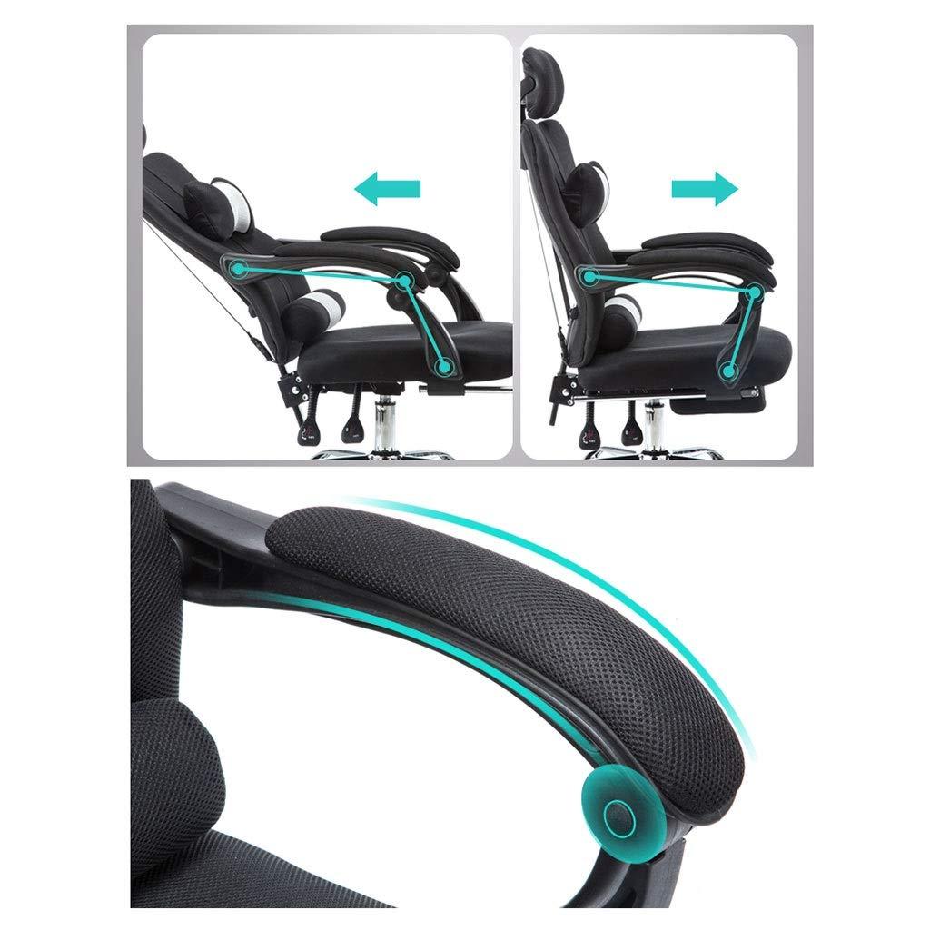 Stol kontorsstol skrivbordsstol kontorsstol med hög rygg stort säte och lutningsfunktion verkställande vridbar datorstol, justerbart nackstöd och ryggstöd, 5 färger gRÖN Svart