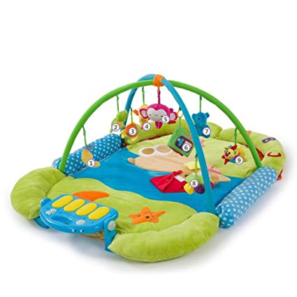Amazon fjy baby gym playmat musical activity play mat in