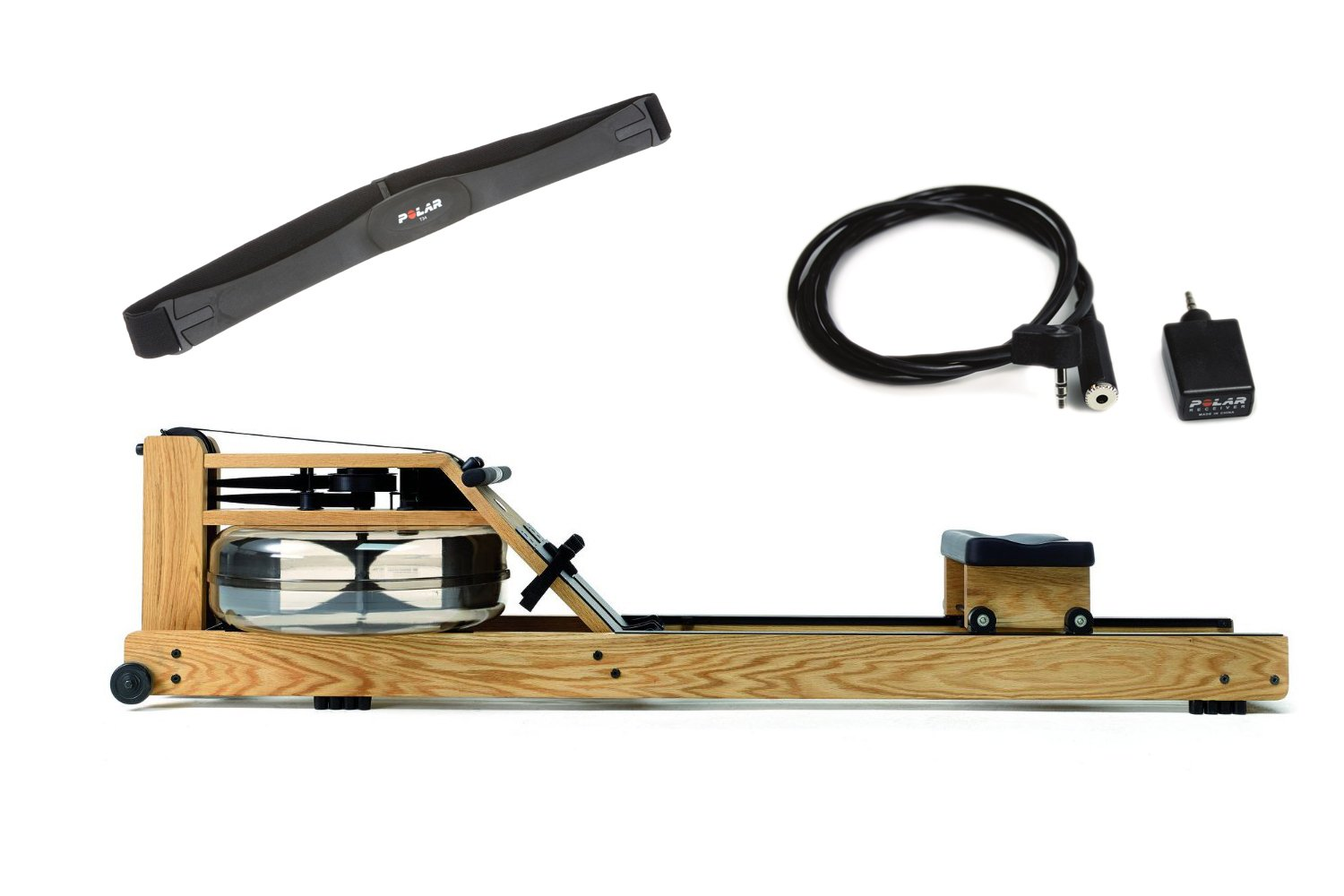 Waterrower Rudergerät Eiche S4 mit Cardio-Set, 230s4