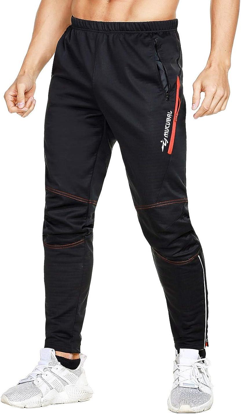 Men Waterproof Cycling Pants Thermal Fleece Windproof Sports Pants Trousers T1P5