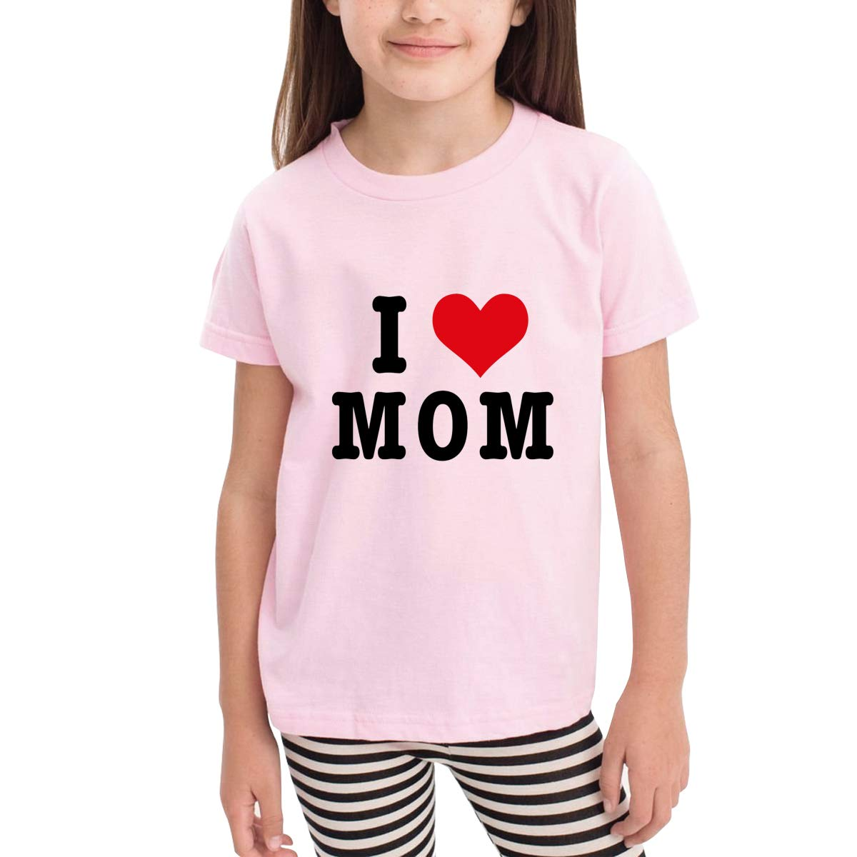 I Love Mom 100/% Organic Cotton Toddler Baby Boys Girls Kids Short Sleeve T Shirt Top Tee Clothes 2-6 T