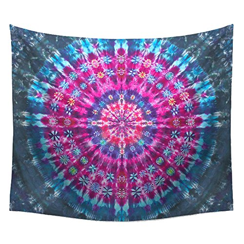 WSHINE Psychedelic Mandala Tapestry Wall Art Floral Print Decor Blue Beach Blanket (TN-5) by WSHINE