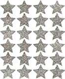 Event CircleSquare Glitter Star Stickers, Set of 24 (Silver)