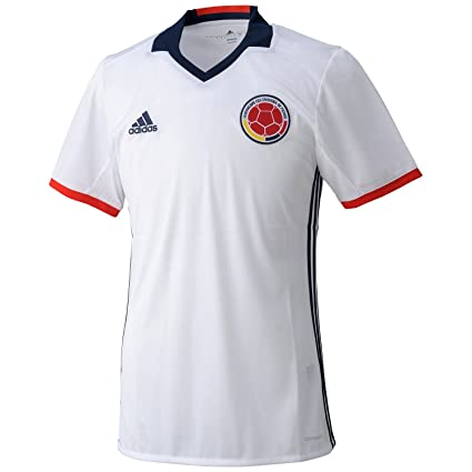 a3832d85267 Image Unavailable. Image not available for. Color  adidas 2016-2017 Colombia  Home Football Soccer T-Shirt Jersey