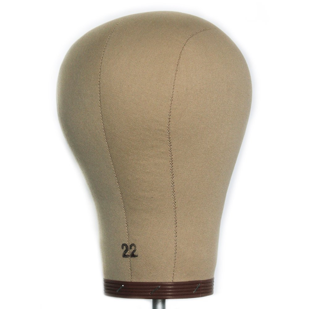 22 Cork Canvas Head Wig display Mannequin Head Wig Making Head With Mount Hole EFBT01 HAIREALM