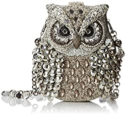 Owl Designed Sequin Evening Bag