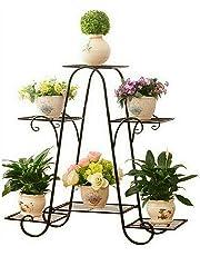 Malayas Porta Piante a 6 Piani in Stile Europeo Facile da Montare Ferro Flower Pot Stand Ripiani Garden Alzata Porta Piante Espositore Per Esterni e Interni, Decorazione