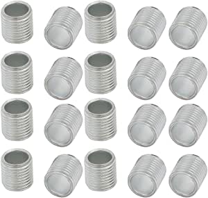 uxcell 30Pcs M10 Full Threaded Lamp Nipple Straight Pass-Through Pipe Connector 10mm Length