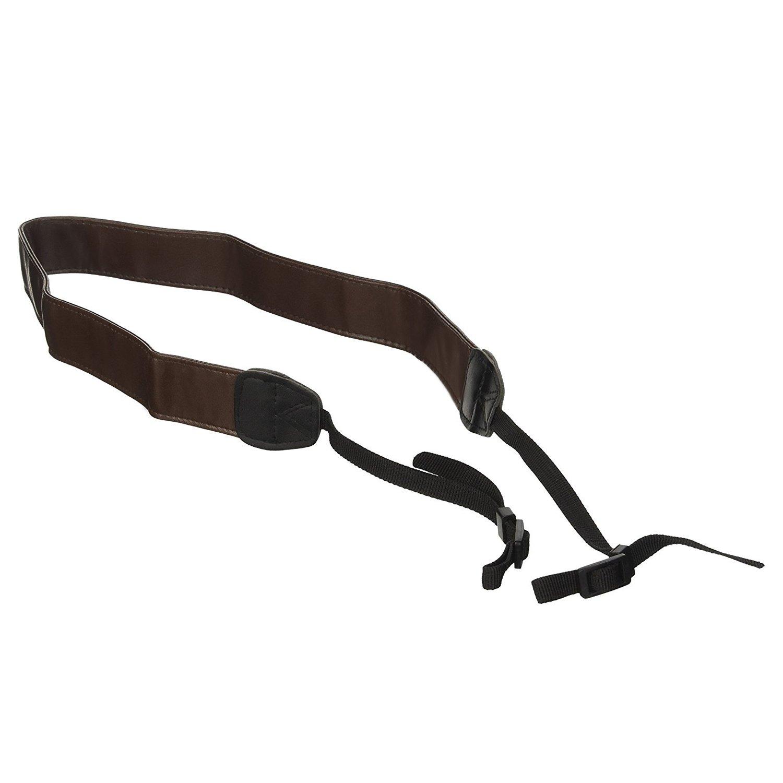 MegaGear Brown Leather Digital SLR Camera, Camcorder Neck Shoulder Straps for Canon, Nikon, Samsung, Olympus, Sony, Fujifilm, Panasonic