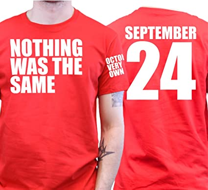 Nothing Was the Same September 24 OVO Drake Triple Print T-shirt:  Amazon.de: Bekleidung