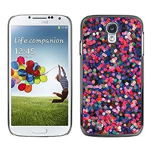 Pink Purple Dots Abstract Red Lights - Metal de aluminio y de plástico duro Caja del teléfono - Negro - Samsung Galaxy S4