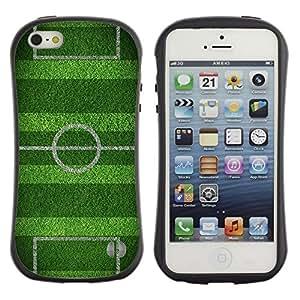 LASTONE PHONE CASE / Suave Silicona Caso Carcasa de Caucho Funda para Apple Iphone 5 / 5S / Soccer Field Goal Game Goal