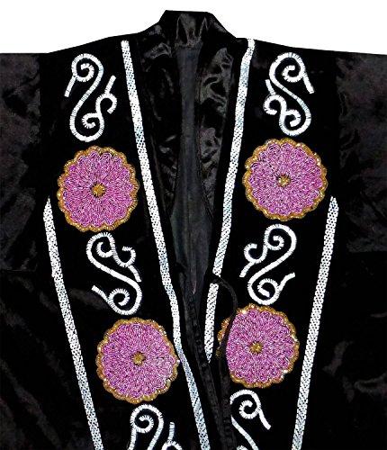 beadwork gorgeous special uzbek beaded handmade embroidered robe caftan coat long jacket chapan b1168 by East treasures