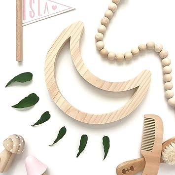 Ordinaire Holz Wanddekoration Kinderzimmer Wandaufkleber (Mond): Amazon.de: Baby