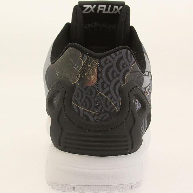 652866dcb ... spain amazon adidas zx flux w womens casual shoes core black white  s75039 7.5 bm us