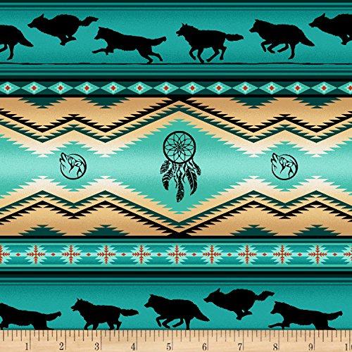 Elizabeth's Studio Tucson Turquoise Fabric by The - Fabric Print Southwestern