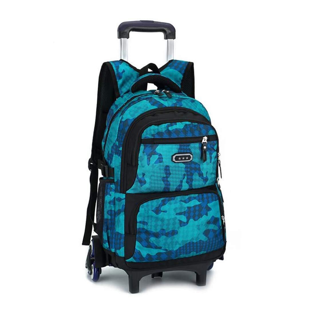 C3 One_Größe Kind Abnehmbare Radtasche Grundschule Taschen für Jungen Kinder wasserdichte Schule Rucksack Roll Trolley Bag Pack C3