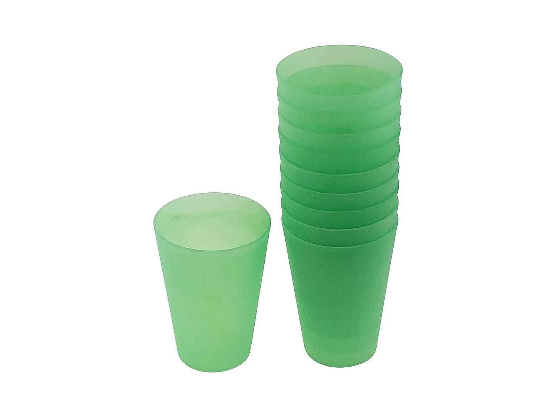 Vasos Reutilizables de pl/ástico 0,4 l 10 Unidades Color Verde Vaso de pl/ástico BoH-Warenhandel