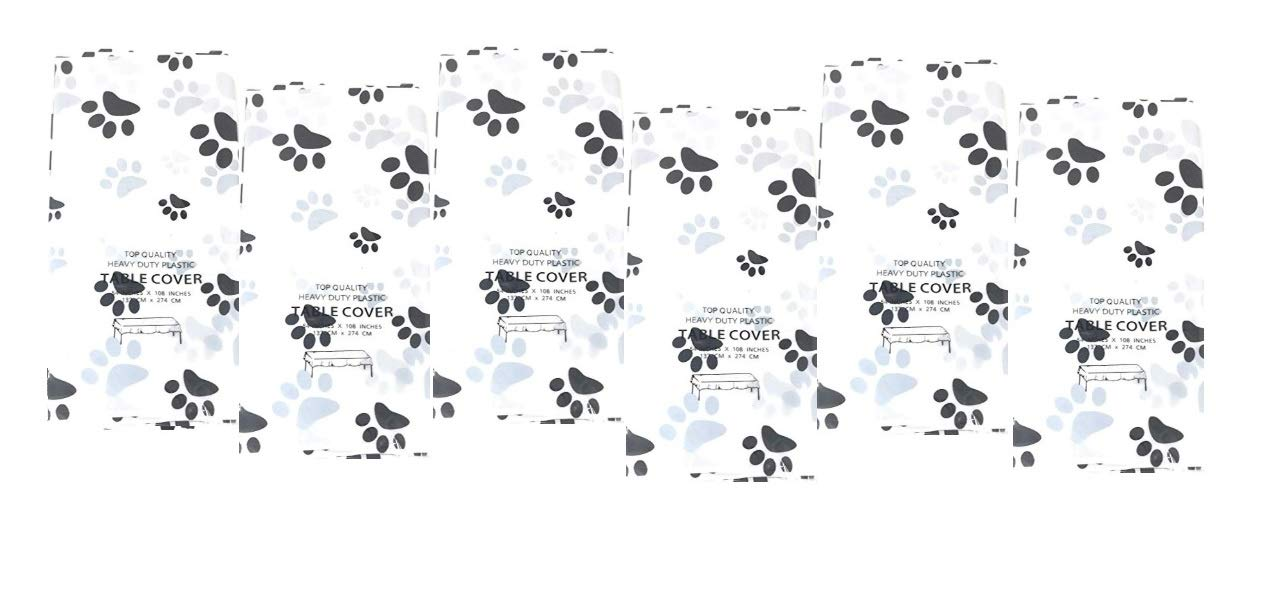 Puppy Dog Paw Print Plastic Table Cover (6) by Bark & Lindy (Image #2)