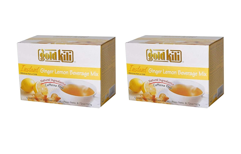 Gold Kili Instant Ginger Lemon Beverage Mix (3 Pack, Total of 576g)