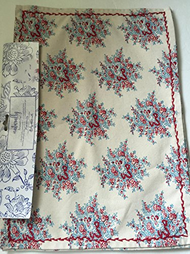 Burgundy Large Place Knife (April Cornell Naturally Beautiful Floral Placemats Set if 4)