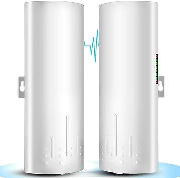 UeeVii 5.8G Exterior CPE Puente Inalámbrico de largo alcance 300Mbps Punto a Punto Transmisor Distancia WiFi Transmisor 14DBi Alta Ganancia 22 Mimo ...
