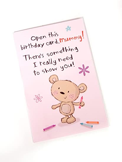 Amazon Mummy Open This Birthday Card Love You Greeting Card