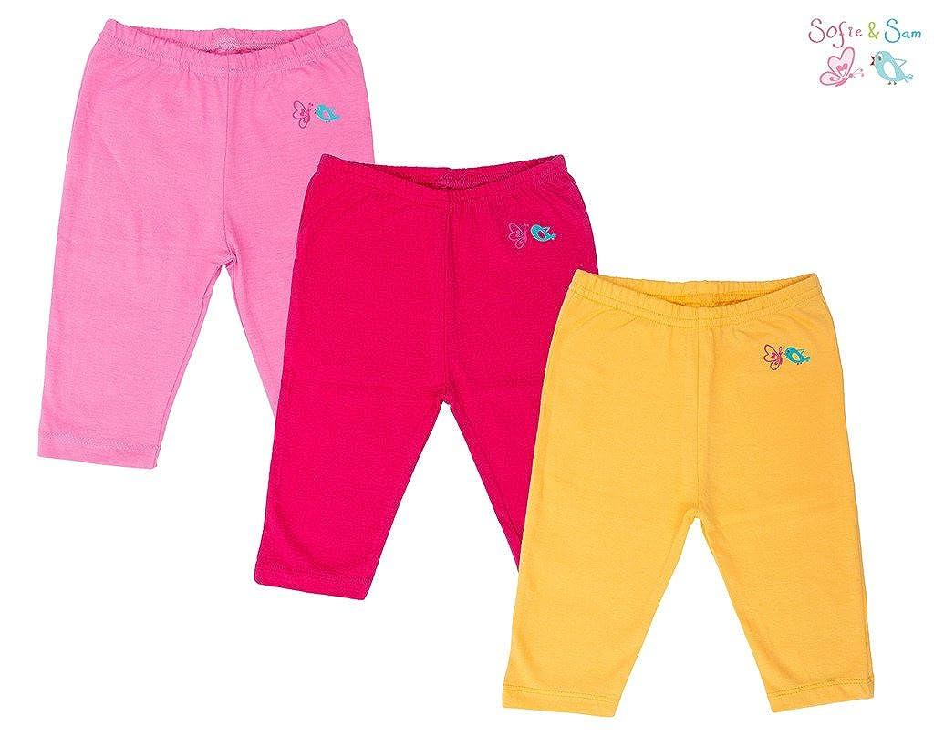 Sofie & Sam Organic Cotton 3 pack Combo Baby Pajama - Pink, Magenta & Yellow Acme BPCPLN030912M0003