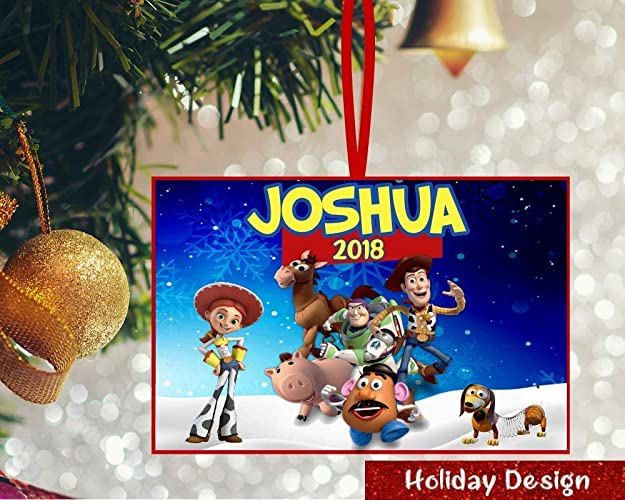 Toy Story Christmas Ornaments.Amazon Com Personalized Toy Story Ornament Toy Story