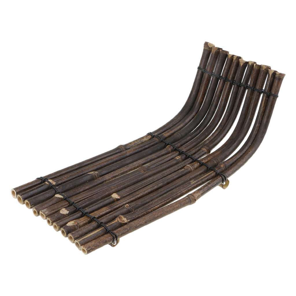 Flameer 1x Bamboo Raft Tea Tray Cup Coaster Kung Fu Tea Accessories Serving Tabletop - 34x15x2cm