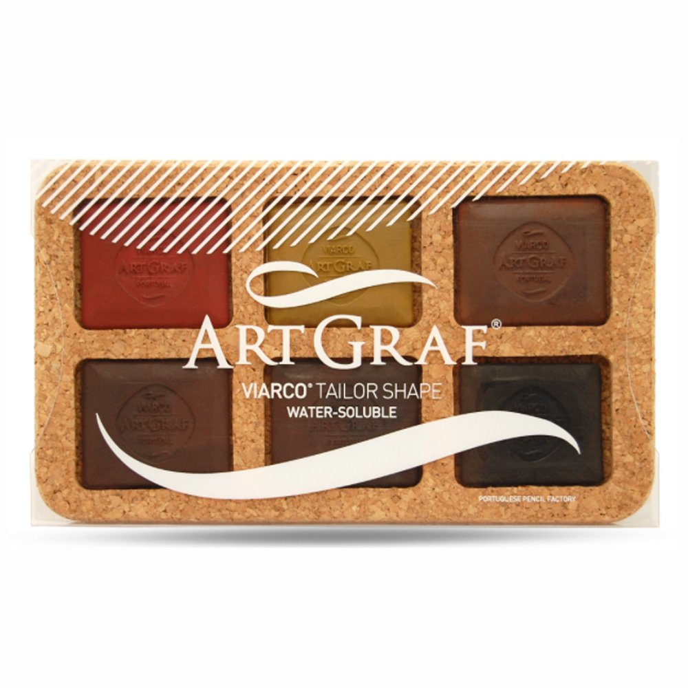ArtGraf Water Soluble Earthtone 6-Color Set GLOBAL ART MATERIAL 510289