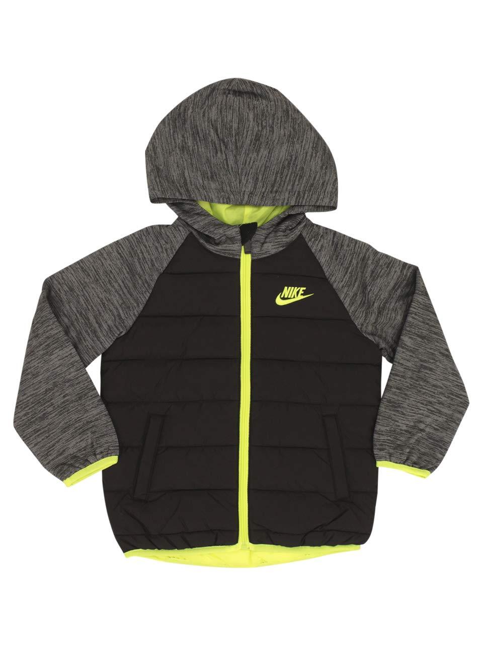 Nike Kids Boy's Sportswear Therma Fleece Jacket (Little Kids) Black 7