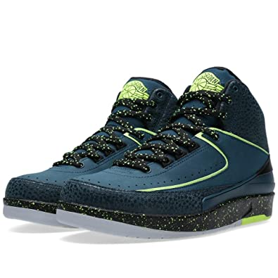 best loved 1d36e 0e55e Nike Mens Air Jordan 2 Retro Nightshade Nightshade Volt Ice-Black-Pure  Platinum