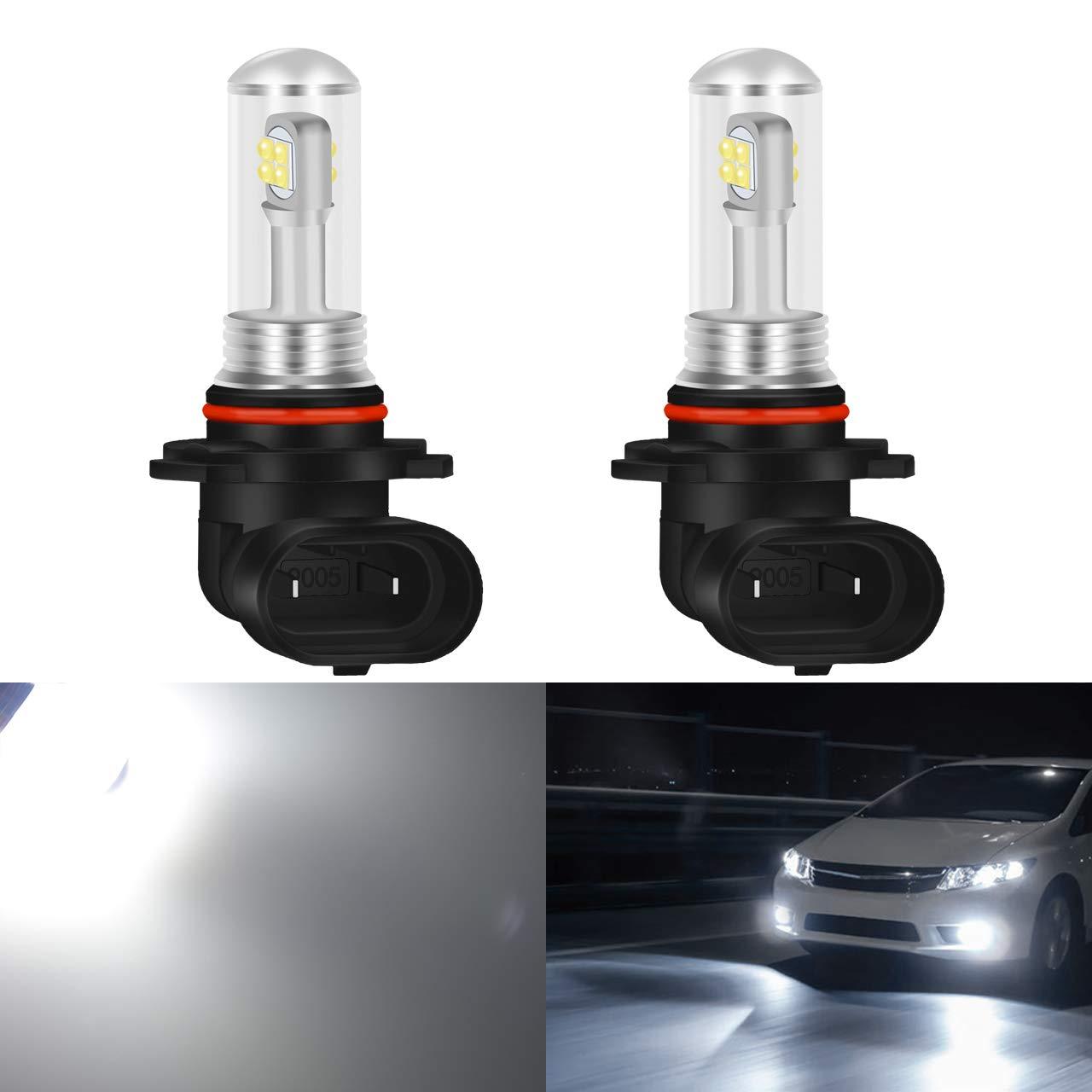 2-Pack KaTur 1500 Lumens CREE Chips 8SMD 40W 7506 1156 BA15S P21W 1141 1095 1073 LED Brake Light Reverse Tail Turn Signal Bulbs 12V-24V White 6000K Waterproof IP68