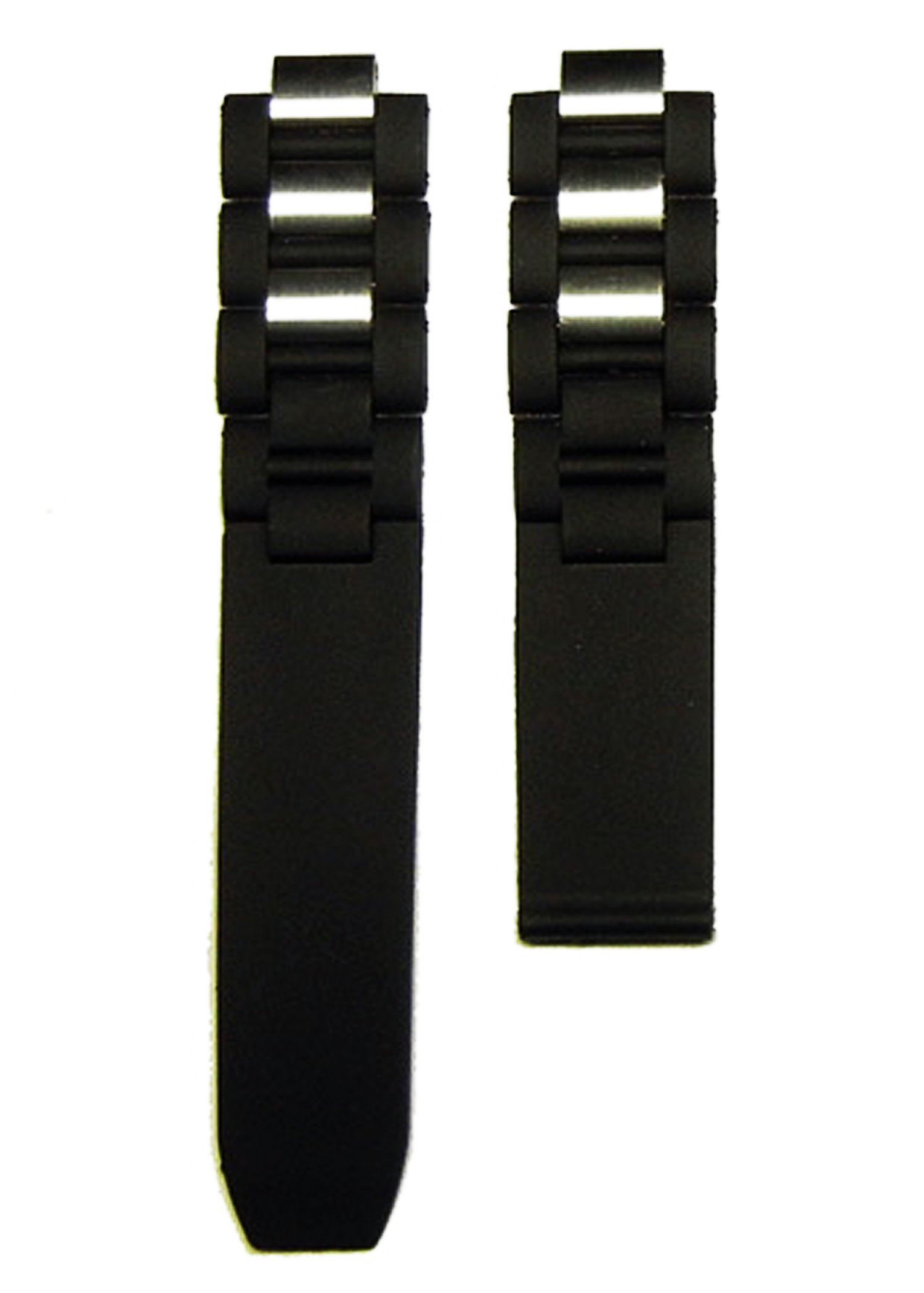 New Rubber/stainless Steel Watch Band Strap Fit Cartier 21 Chronoscaph & Autoscaph (20mm)
