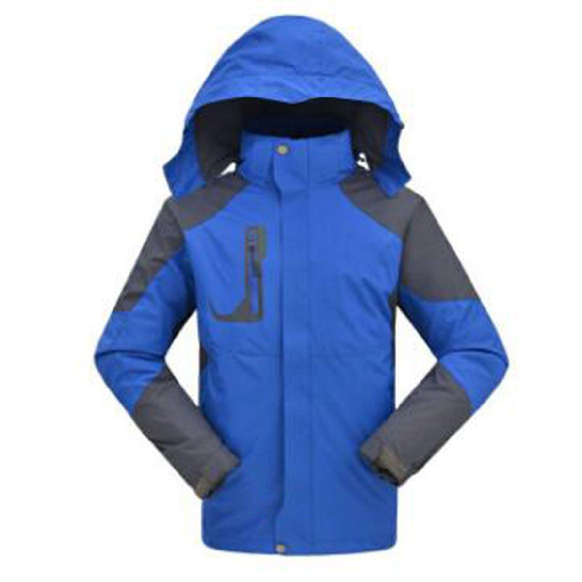 WU LAI Männer Dreifach Jacken Verdickung Warme Fleece Liner Zweiteilige Outdoor Bergsteigen Kleidung