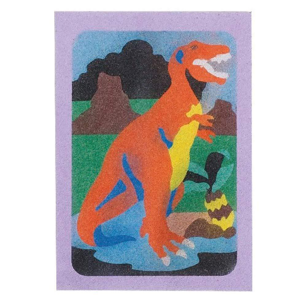 Sand Art Boards 5x7 Dinosaurs S/&S WORLDWIDE CF-1440